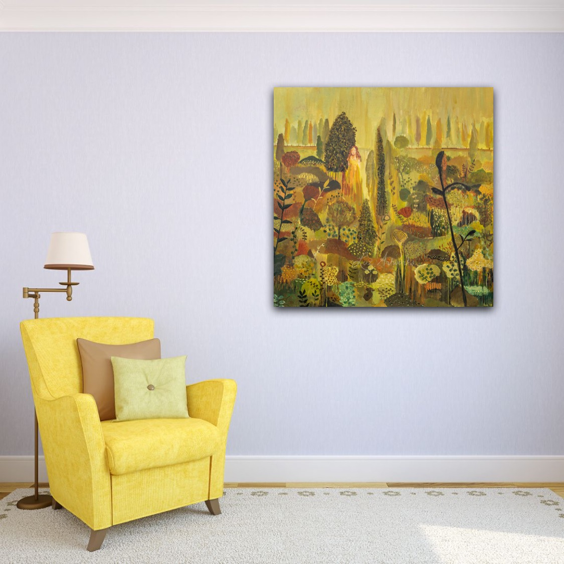 Painting Garden of my Soul by Marloes Bloedjes Luz Artworks - on the wall