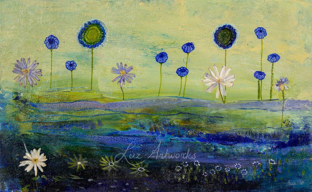 violet flower field