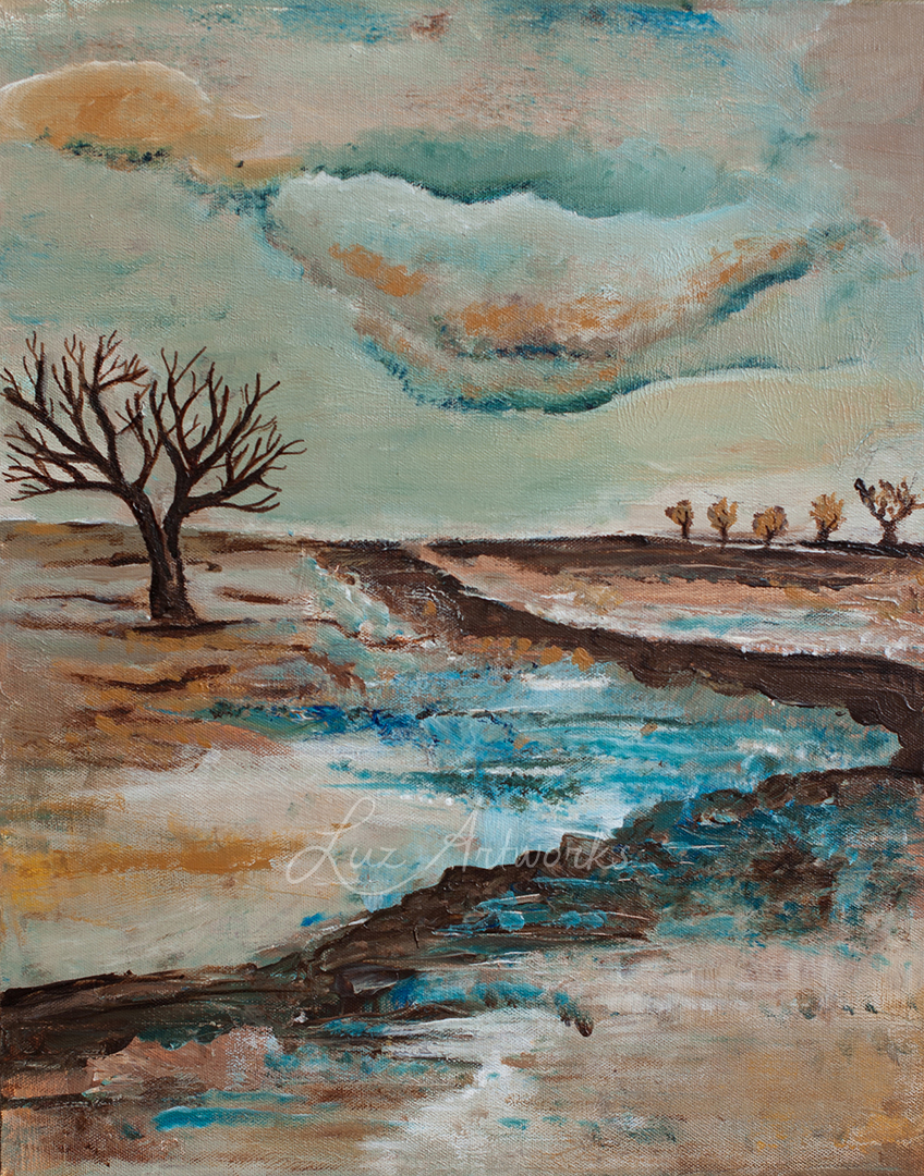 painting winter by Luz / Marloes Bloedjes