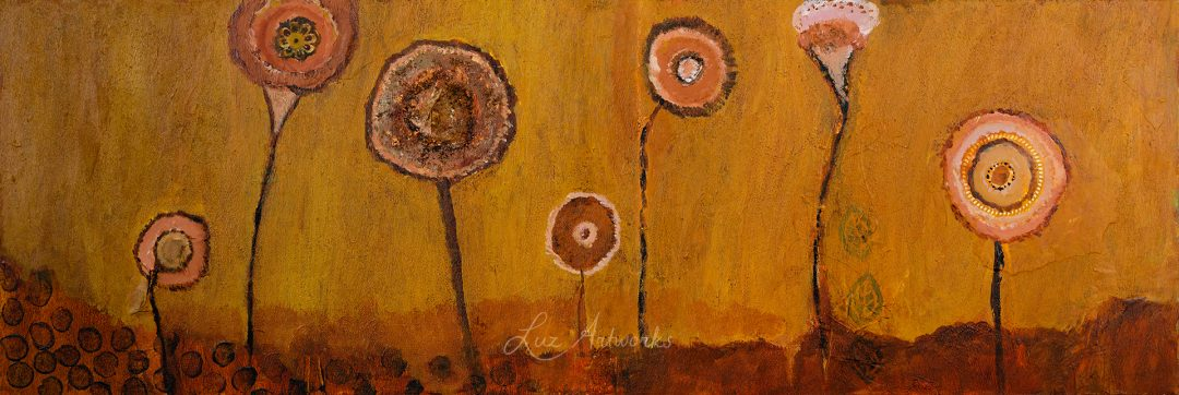 orange and brown flower field