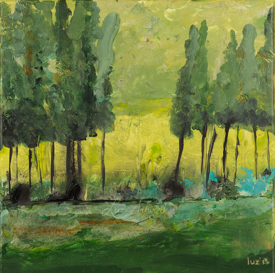 this image shows the painting rain wood by Luz / Marloes Bloedjes