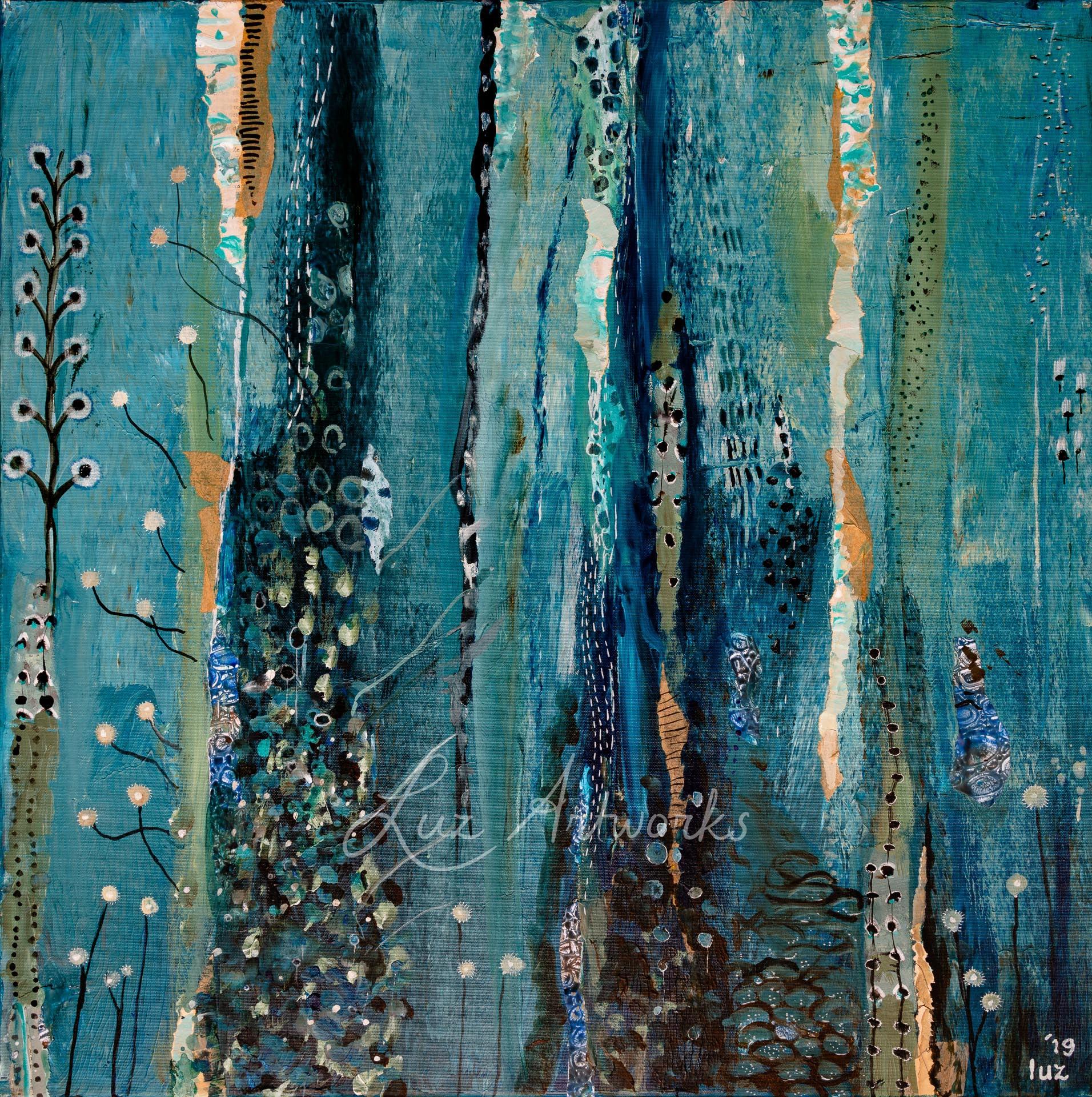 Deze afbeelding laat het schilderij 'Flowers' van Marloes Bloedjes zien.