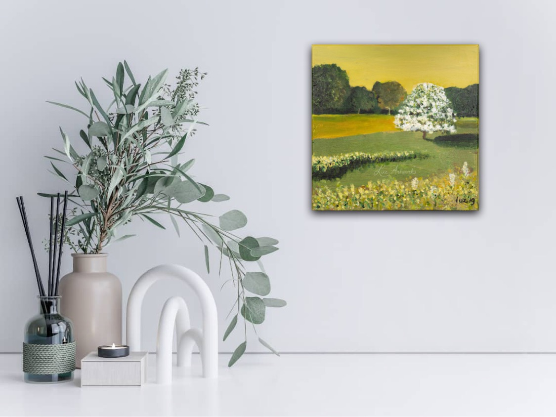 Dune Ladschape Haythorn by Marloes Bloedjes Luz Artworks - on the wall