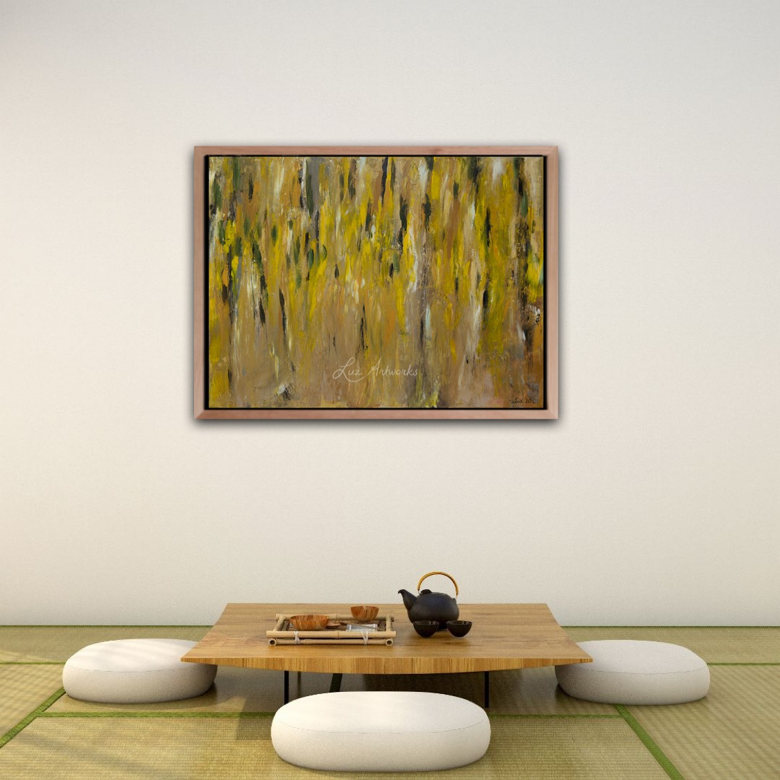 Painting Laburnum by Marloes Bloedjes Luz Artworks - wall