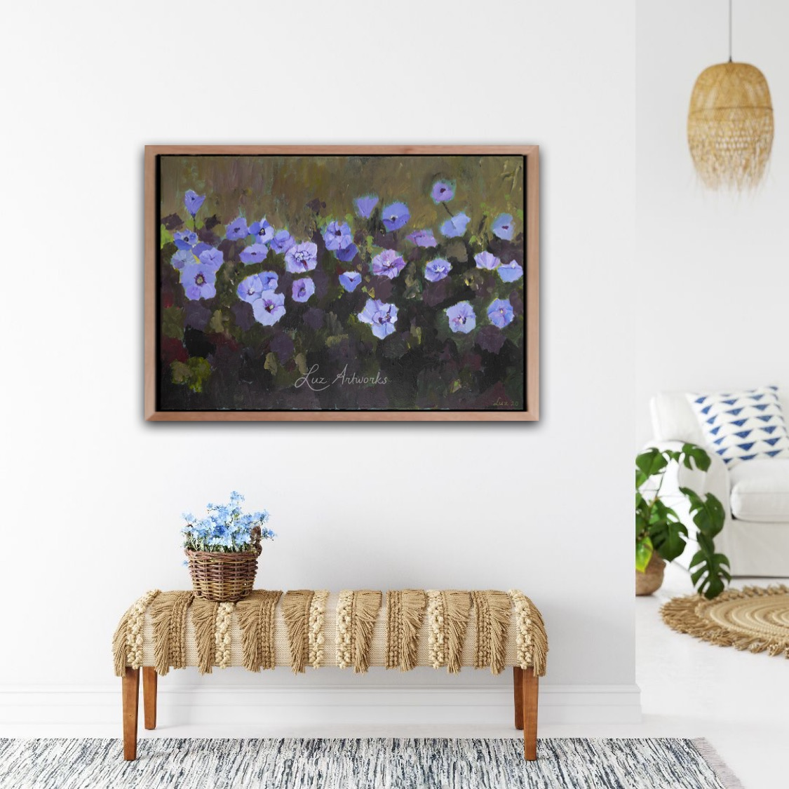 Painting Hibiscus by Marloes Bloedjes - on the wall