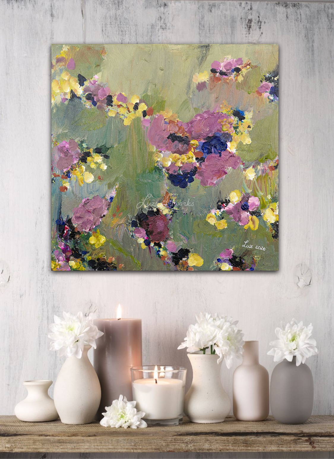 Painting Magical Garden - Marloes Bloedjes - Luz Artworks - On the Wall