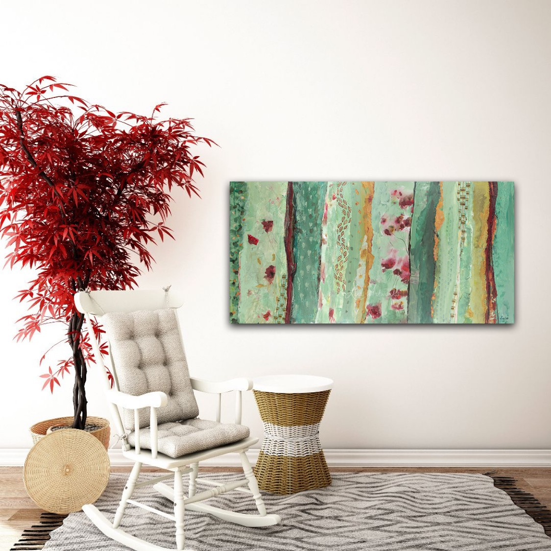 Painting Pattern Paradise by marloes Bloedjes Luz Artworks - on the wall