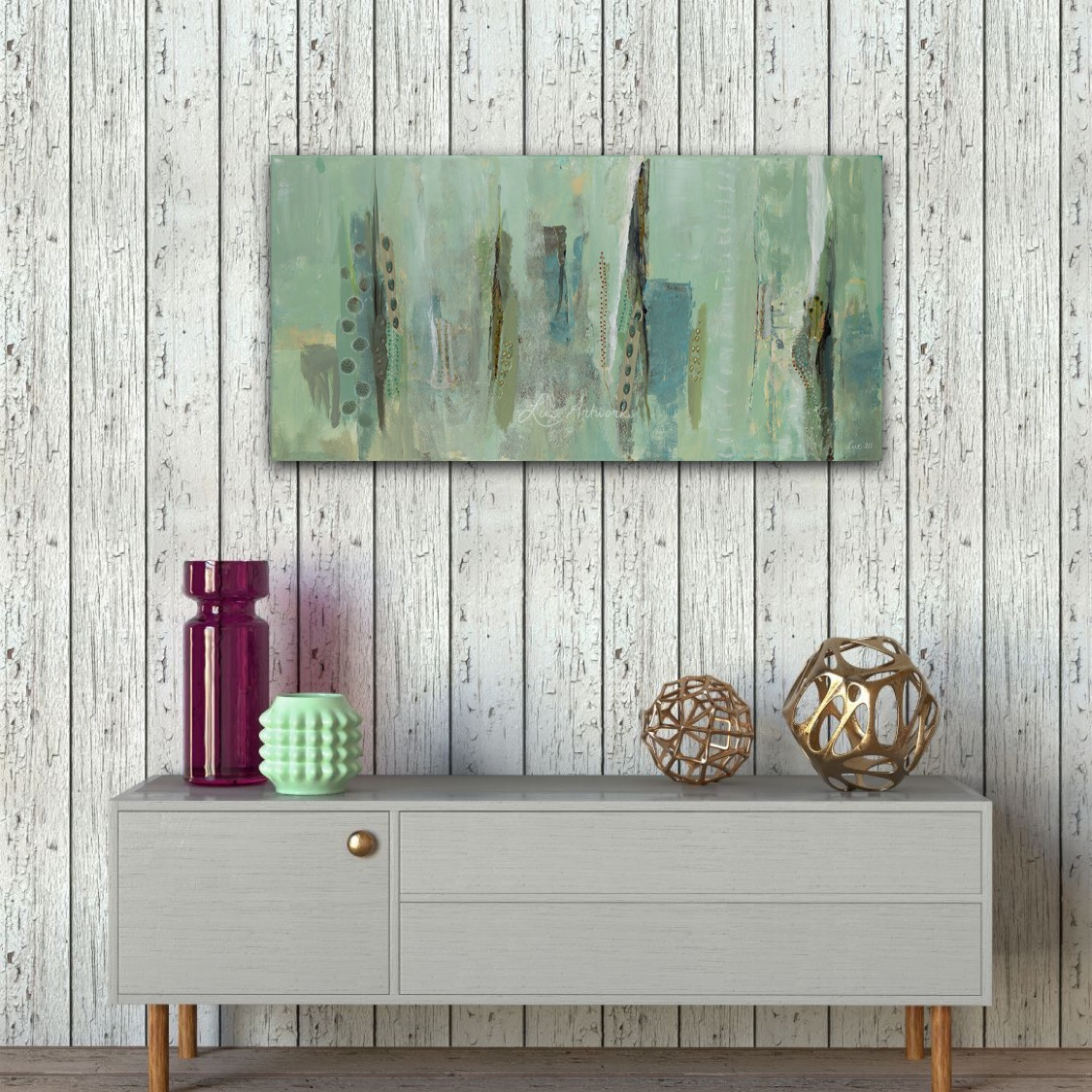 Painting Serenity by Marloes Bloedjes - on the wall