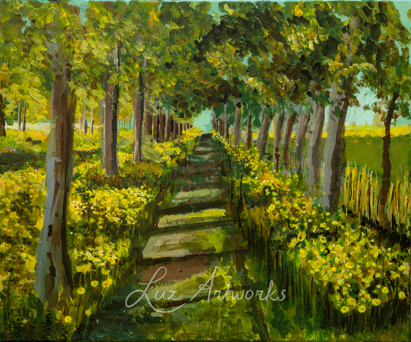 This image shows the painting Spring Sunflowers by Luz/Marloes Bloedjes.