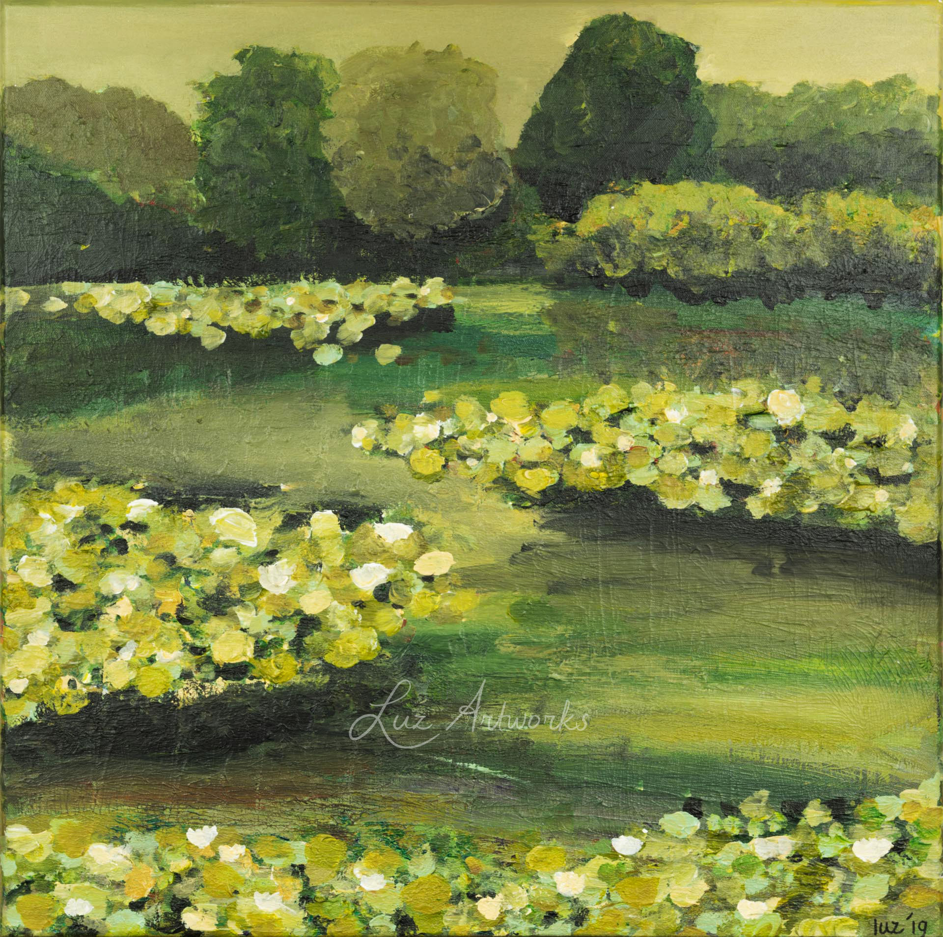 This image shows the painting Waterlilies by Luz / Marloes Bloedjes.