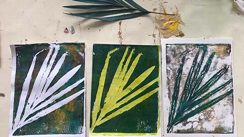 Botanical Gelli Prints - Metas artwork