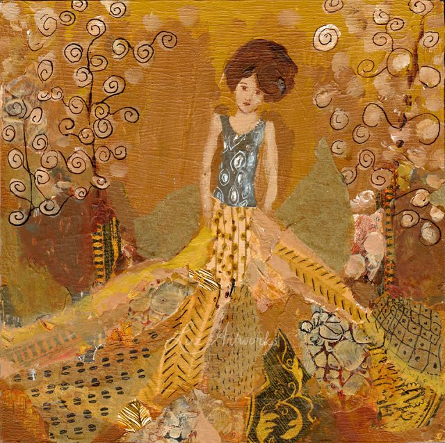 This image shows the painting Klimt Angel 1 by Luz / Marloes Bloedjes.
