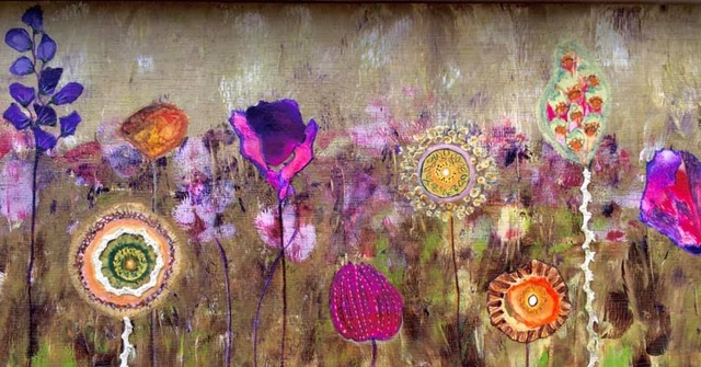 Anja's painting from the painting course Fantasy Flowers by Luz Artworks