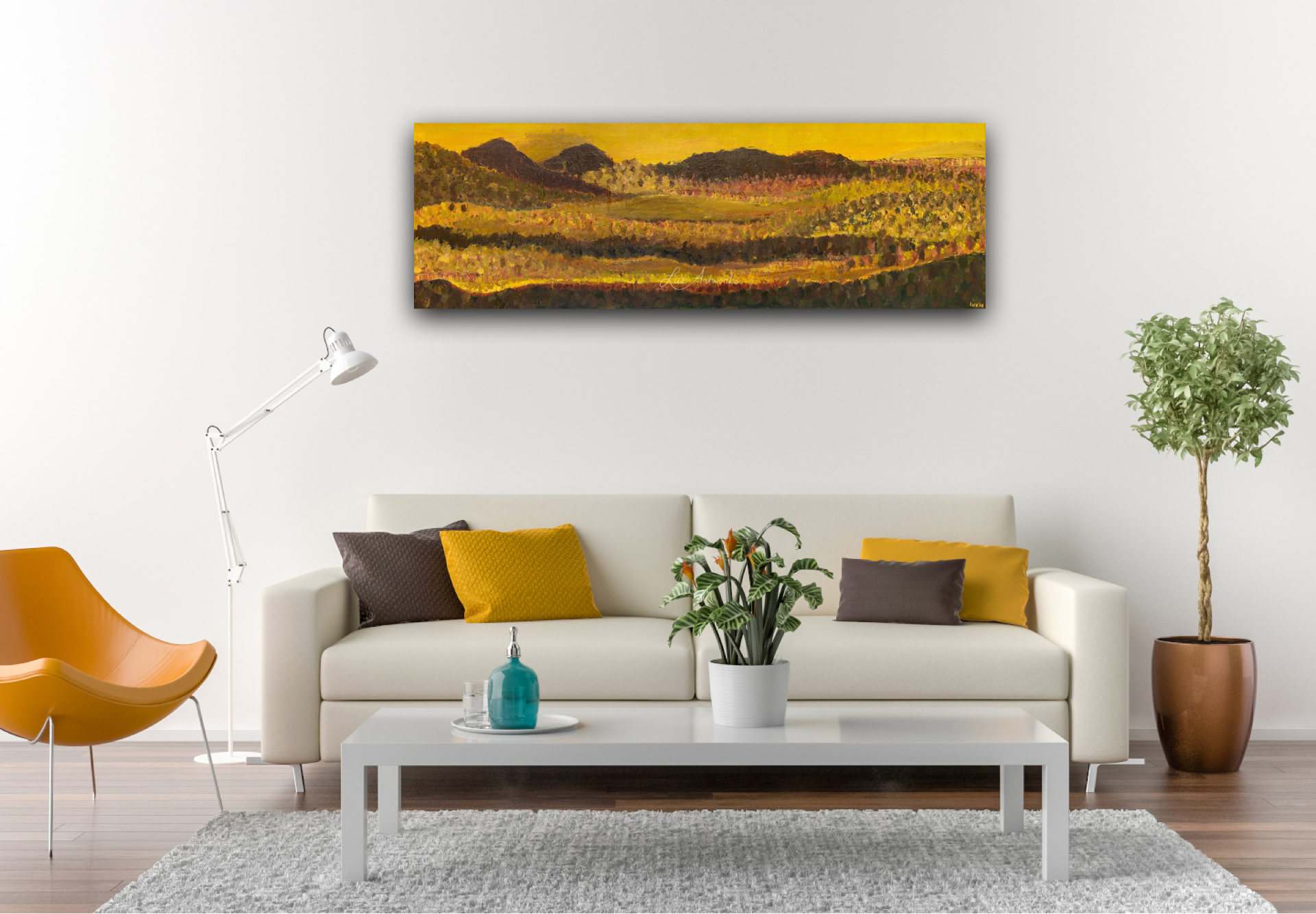 In the Hills Wall - Painting by Luz Artworks Marloes Bloedjes