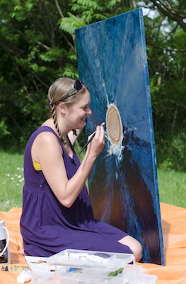 Painting Eye Shield with low vision, back in 2014