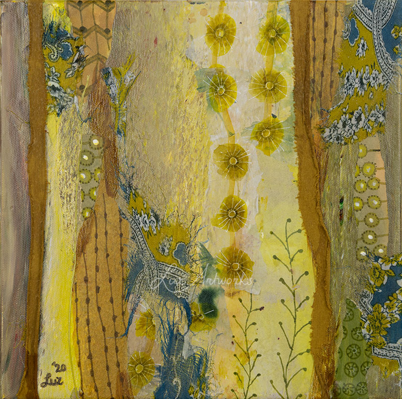 Painting Pattern Playing Yellow by Luz Artworks, Marloes Bloedjes