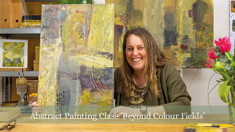 Promo for the online abstract painting course Beyond Colour Fields from Luz Artworks
