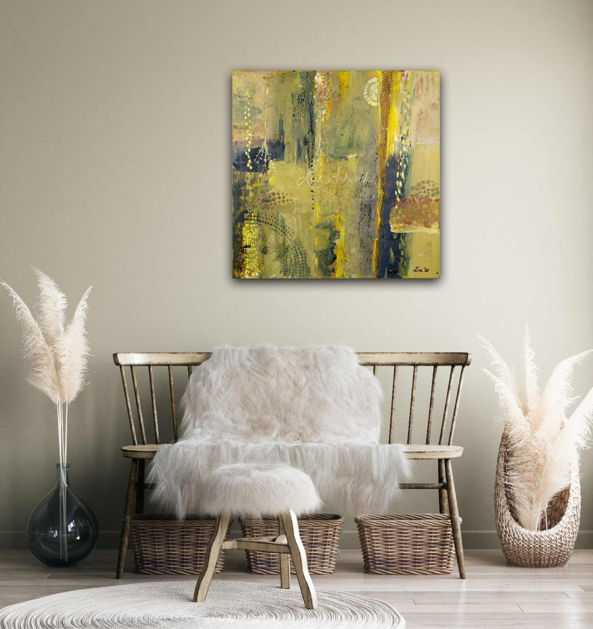 Painting Garden View by Marloes Bloedjes - on the wall