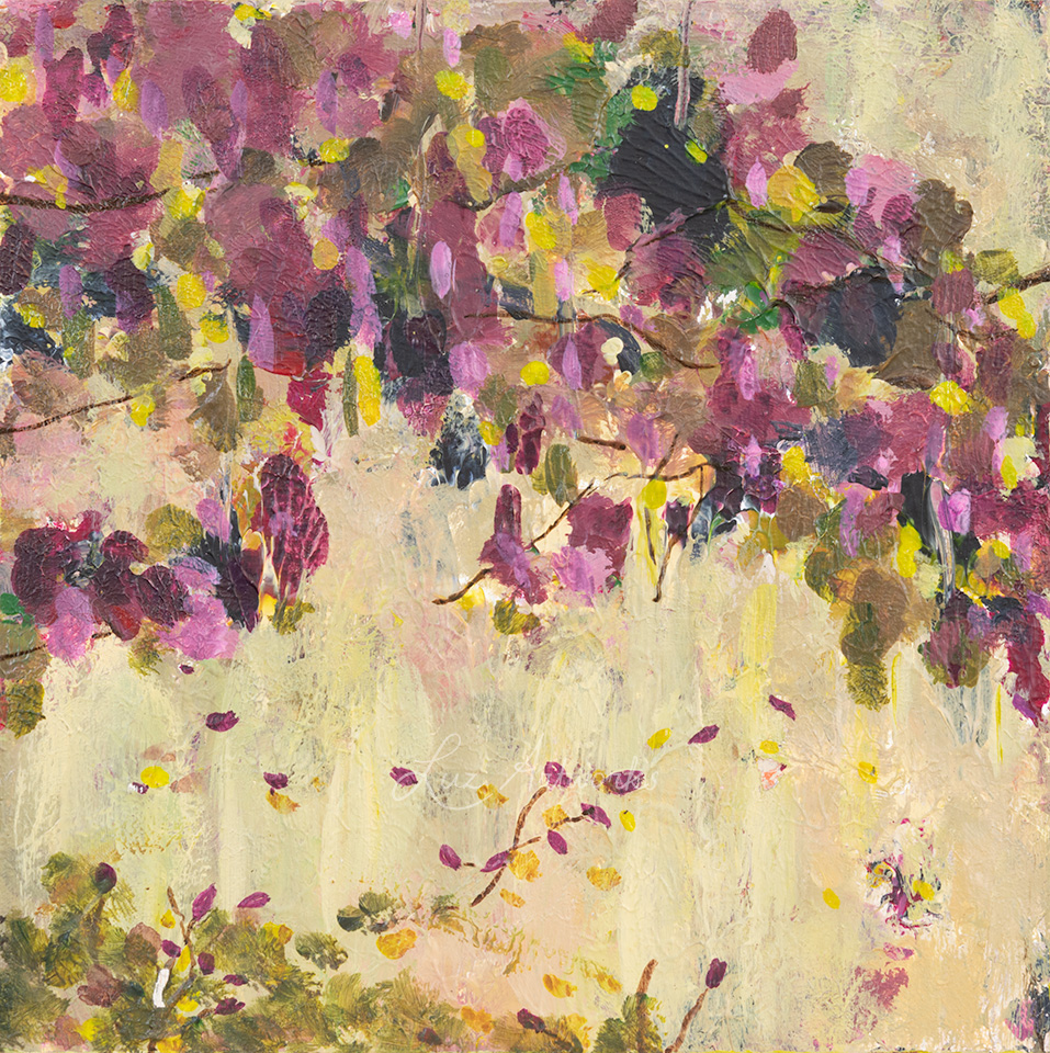 painting blossoms 3 by Luz / Marloes Bloedjes
