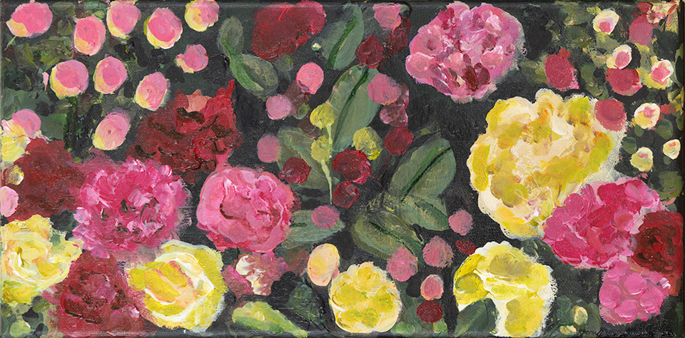 This image shows the painting Mini Rose Garden by Luz / Marloes Bloedjes