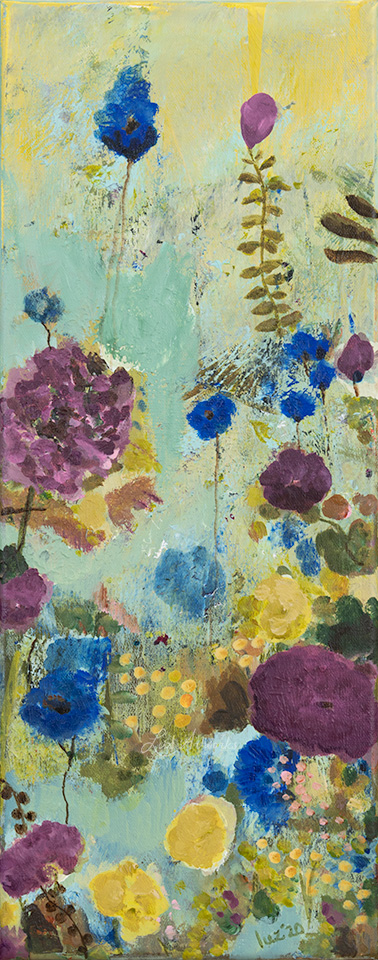 This image shows the painting Wild flower field - Blue & Purple by Luz / Marloes Bloedjes