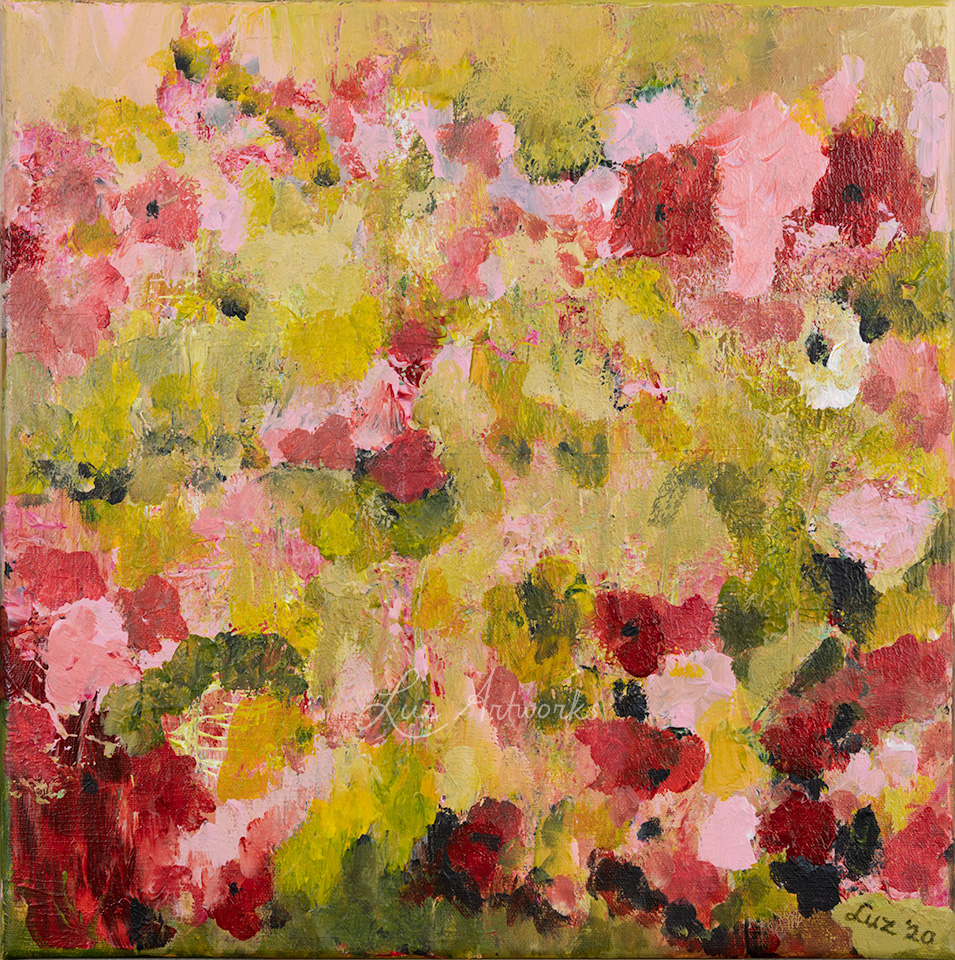 This image shows the painting Fresh Pink Flowers by Luz / Marloes Bloedjes.