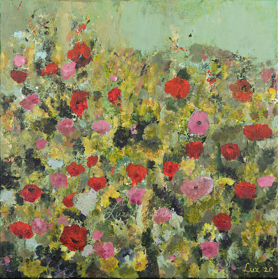 painting wild flower field by Luz / Marloes Bloedjes