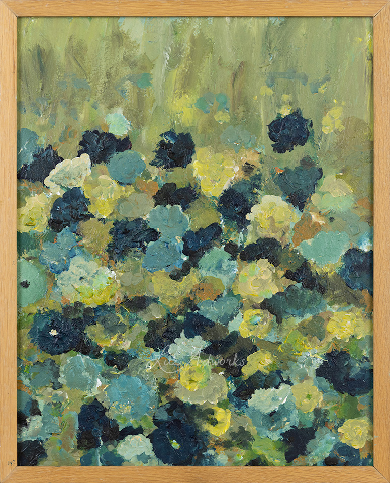 This image shows the painting Blue Garden by Luz / Marloes Bloedjes