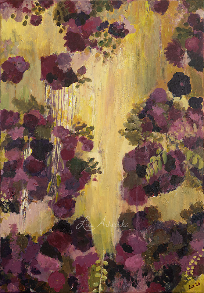 This image shows the painting Flower Dream by Luz / Marloes Bloedjes.