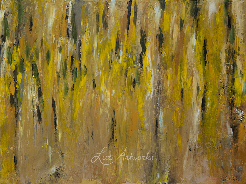 This image shows the painting Laburnum (Golden Rain) by Luz / Marloes Bloedjes