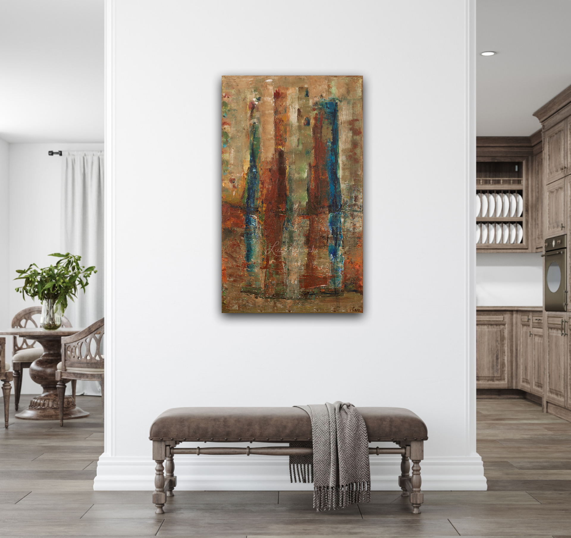 Painting Towers on the Wall by Luz Artworks / Marloes Bloedjes