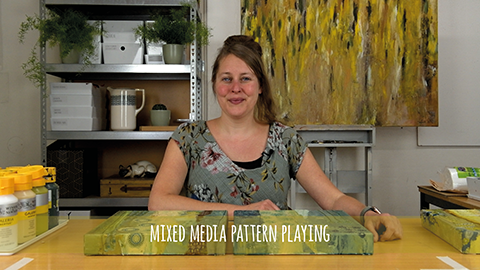online painting course mixed media pattern paying