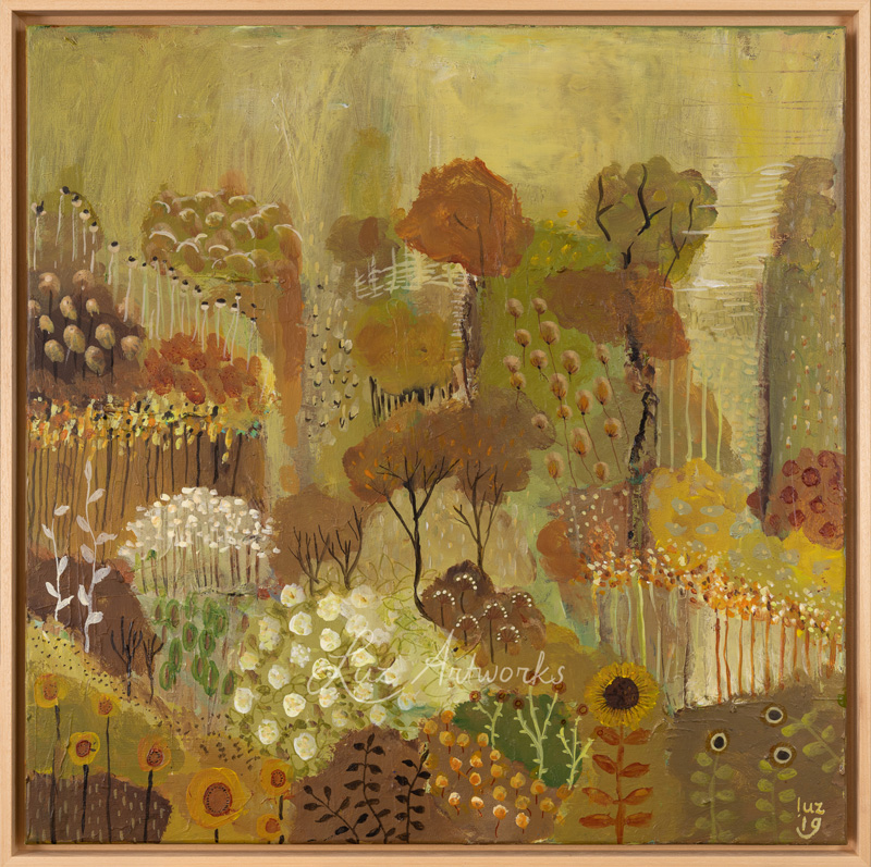 This image shows the painting Another garden by Luz / Marloes Bloedjes